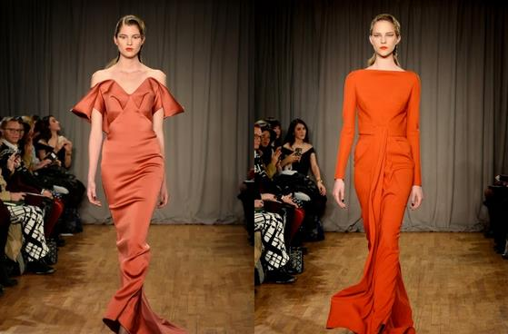 Dramatic gowns by Zac Posen